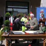 Unterzeichnung Partnerschaft in Castagnaro